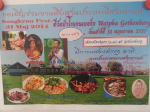 Songkran party maj 2014